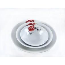 Royal White Ceramic Serving  1PC