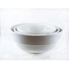 Royal White Ceramic Serving Bowls 23 cm Thick Round Shape 1PC