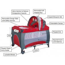 BABY-PORTABLE-TRAVEL-BEDS With Music and Toys