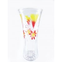 Roses Vase Glass Height 30 cm Colored