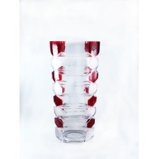Roses Vase Glass Height 25 cm Colored