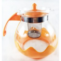 Glass Tea Pot with Filter & Plastic Cover