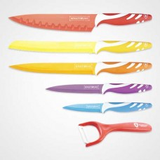 Hot Sale Royalty Line 5 Pieces Knife Set Non-Stick Coating + Peeler Knife