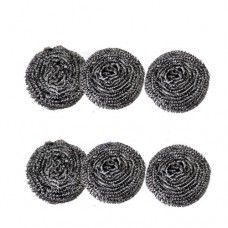 12 Pcs Stainless Steel Wire Dish Scourer Cleaning Balls Kitchen Helper Tools