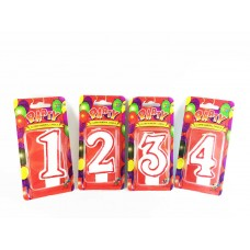 BIRTHDAY 1 2 3 4 5 6 7 8 9 0 Double Sided Number Cake Candle Decorations