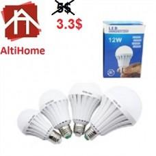 LED 12 W Intelligent Emergency LED Bulb Lamp Rechargeable Night Light AC 86-265V
