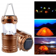 New LED Solar Charging Camping Light Outdoor Portable USB Hiking Tent Lantern GD