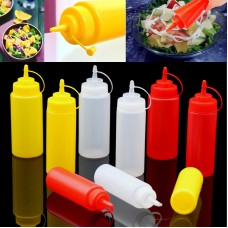 2 PCS Kitchen Tools Squeeze Honey Ketchup Soy Sauce Cooking Oil Seasoning Bottle